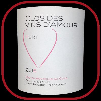 Flirt 2016 le vin du domaine Clos des vins d'amour pour notre blog sur le vin