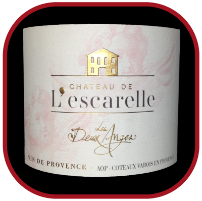 Les deux anges 2016 le vin du château de l'Escarelle pour notre blog sur le vin