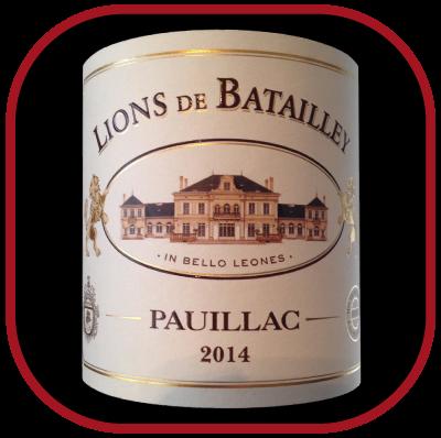 Les lions de Batailley 2014 le vin du domaine Château Batailley pour notre blog sur le vin