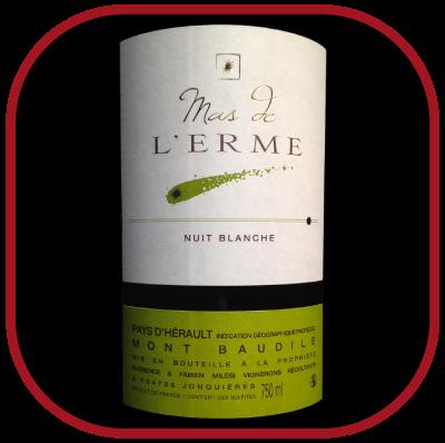 Nuit blanche 2016 le vin du domaine Mas l'Erme pour notre blog sur le vin