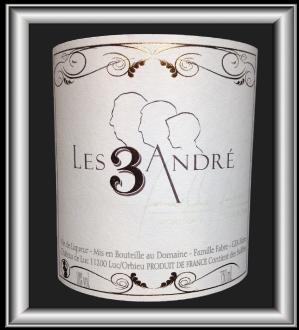 Les 3 André le vin du Château Fabre Gasparets pour notre blog sur le vin