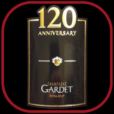 Cuvée anniversaire 120 ans le Champagne de la maison Gardet pour notre blog sur le vin