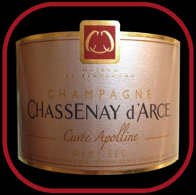 Cuvée Apolline, le Champagne du Domaine Chassenay d'Arce pour notre blog sur le vin