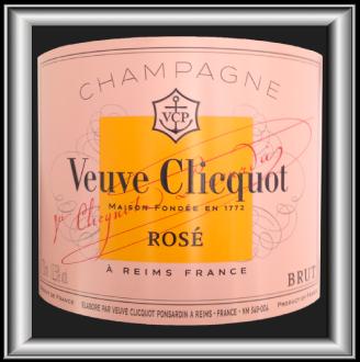 Rosé, le Champagne du domaine Veuve Clicquot pour notre blog pour le vin