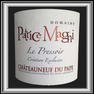 Le Pressoir 2015 le vin du domaine Patrice Magni pour notre blog sur le vin