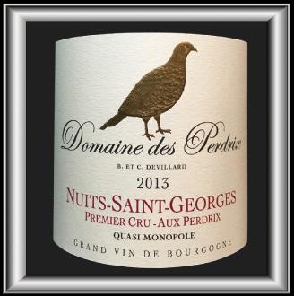 Aux Perdrix 2013, le vin du domaine des Perdrix pour notre blog sur le vin