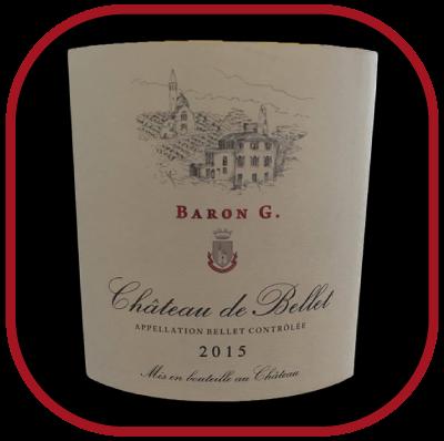 Baron G 2015, le vin du Château de Bellet pour notre blog sur le vin