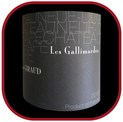 Les Gallimardes 2015, le vin du domaine Giraud pour notre blog sur le vin