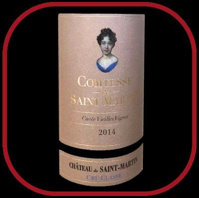 Comtesse St-Martin 2014, le vin du château de St-Martin pour notre blog sur le vin