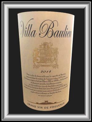Rouge 2014 le vin du domaine Villa Baulieu pour notre blog sur le vin.