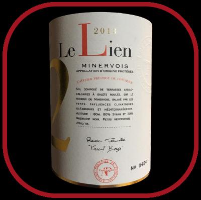 Le Lien 2013, le vin de l'Atelier prestige de Foncalieu pour notre blog sur le vin
