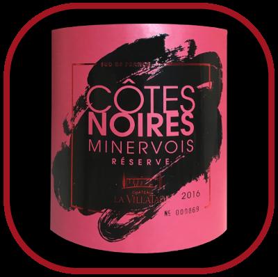 Côtes Noires réserve 2016, le vin du château La Villatade pour notre blog sur le vin