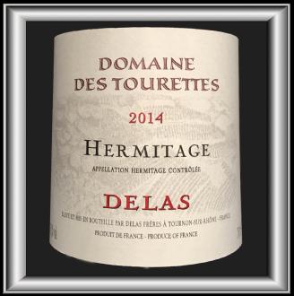 Hermitage rouge 2014, le vin du Domaine des Tourettes de la maison Delas pour notre blog sur le vin