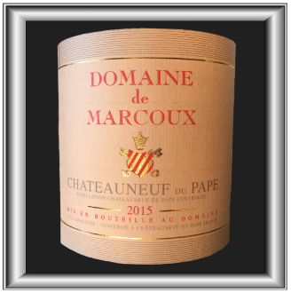 Marcoux 2015 rouge, le vin du Domaine Marcoux pour notre blog