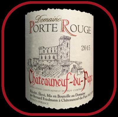 Châteauneuf-du-Pape 2015 rouge, le vin du domaine de la Porte Rouge pour notre blog