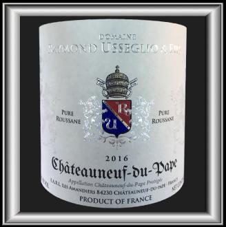 Pure Roussane 2016 le vin du domaine Raymond Usseglio pour notre blog sur le vin