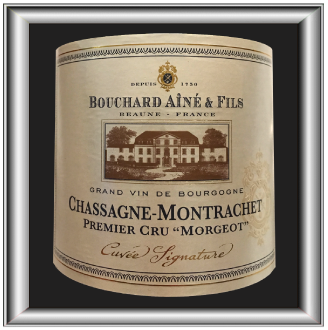 Chassagne Montrachet 1er Cru Morgeot 2009, le vin du domaine Bouchard Ainé et Fils pour notre blog sur le vin