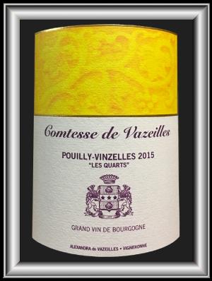Les Quartz 2015, le vin du Château des Bachelards Cmtesse de Vazeilles pour notre blog sur le vin
