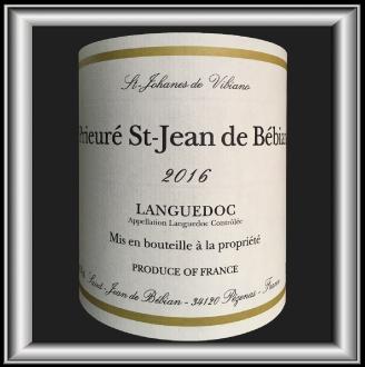 Le Prieuré blanc 2016, le vin du domaine Prieuré St-Jean de Bébian pour notre blog sur le vin