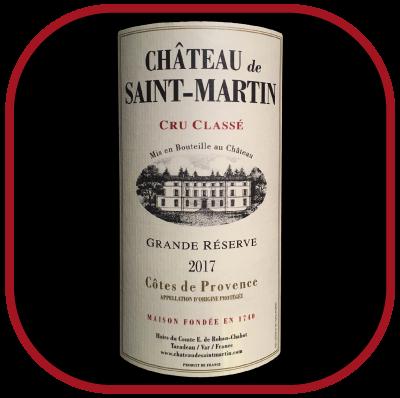 Grande Réserve blanc 2017, le vin du Chateau Saint-Martin pour notre blog sur le vin