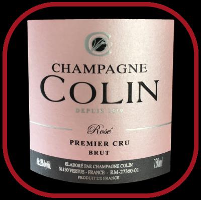 1er cru brut Rosé, le Champagne de lamaison Colin pour notre blog sur le vin