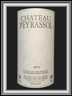 Blanc 2015 du Château Peyrassol pour notre blog sur le vin
