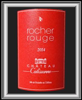 Rocher Rouge 2014, le vin du château Calissanne pour notre blog sur le vin