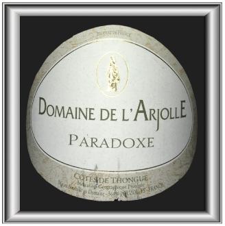 Paradoxe 2015, le vin du Domaine de l'Arjolle pour notre blog sur le vin