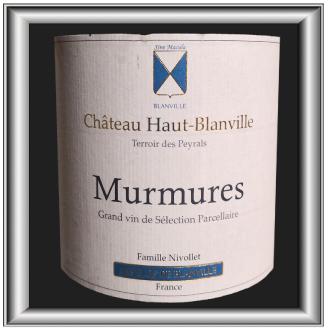 Murmures 2012, le vin du château Haut Blanville pour notre blog sur le vin