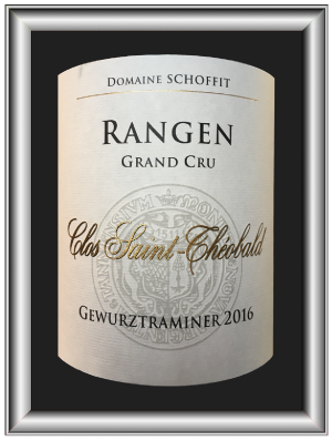 Rangen grand cru Clos St Théobald 2016 du domaine Schoffit pour notre blog sur le vin