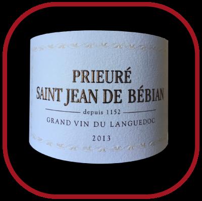 Prieuré St-Jean de Bébian rouge 2013, le vin du Domaine Prieuré St-Jean de Bébian pour notre blog sur le vin