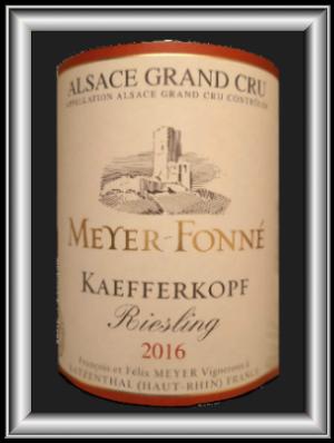 Grand Cru Kaefferkopf 2016, le vin du domaine Meyer-Fonné pour notre blog sur le vin