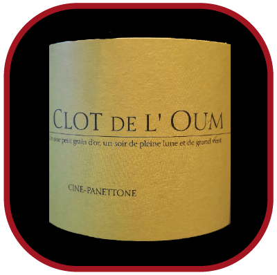 Cine Panettone 2017, le vin blanc du Clot de l'Oum pour notre blog sur le vin