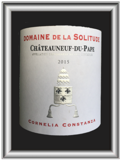 Cornelia Constanza 2015, le vin du domaine de la Solitude pour notre blog sur le vin