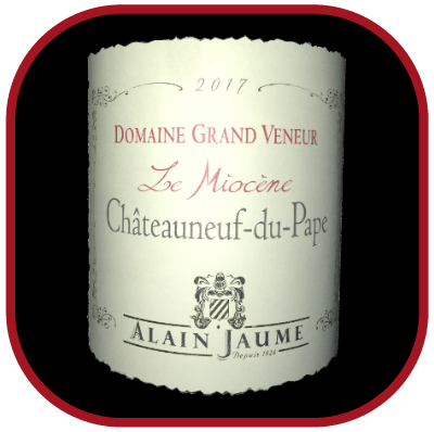 Le Miocène 2017, le vin du domaine du Grand Veneur pour notre blog sur le vin