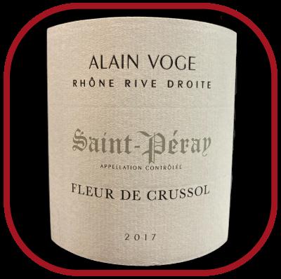 Fleur de Crussol 2017, le vin d'Alain Voge pour notre blog sur le vin
