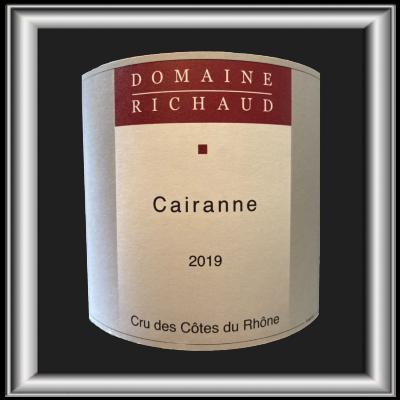 Cairanne 2019, le vin du domaine Marcel Richaud pour notre blog sur le vin