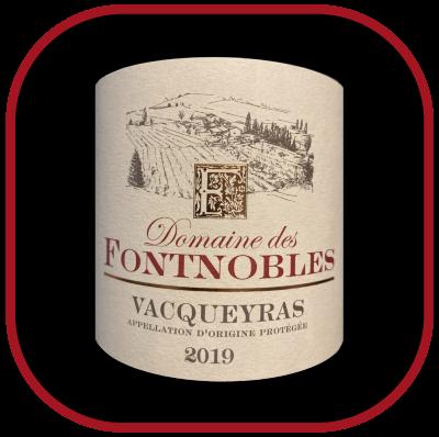Vacqueyras 2019, le vin du domaine de Fontnobles pour notre blog sur le vin